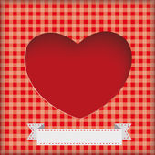 Heart Hole Background — Stock Vector