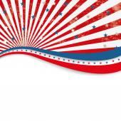 4th July Stars US Stripes Flyer — Vetor de Stock