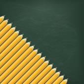 Blackboard with graffit Pencils — Stock Vector