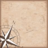 Brown compass on Vintage Background — Stock Vector