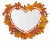 Oranje papier bord in de vorm van hart — Stockvector
