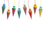 Hanging Candy Cones Flyer — Stock Vector