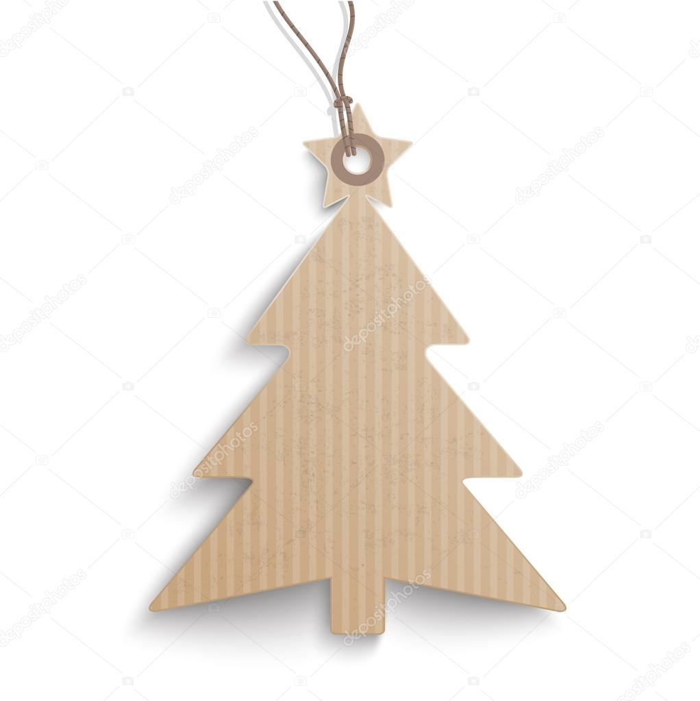 cardboard hanging christmas tree price sticker on the white background eps vector file u vector de limbi