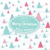 Christmas tree seamless congratulation card — Stock Vector