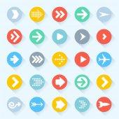 Arrow icon set. Vector. — Stock Vector