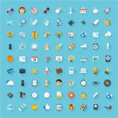 Communication and business icon set — Stock Vector
