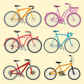 The bicycle. Vector template. — Stock Vector