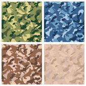 Seamless digital terrain camouflage pattern — Stock Vector