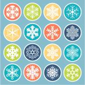Colorful Vector snowflakes. — Stock Vector