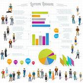 Paper infographics design elements. — Stock Vector