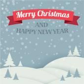 Christmas card. Vector template. — Stock Vector