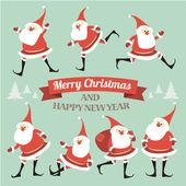 Christmas illustration with Santa. — Stock Vector