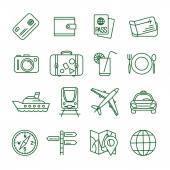 Travel vector icon set — Stock Vector