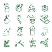 Christmas icon set — Stockvektor