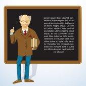 Frame with teacher. — Stock Vector