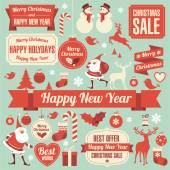 Christmas design element collection. — Vetorial Stock