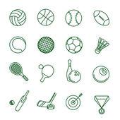 Sport vector icon set. — Stock Vector
