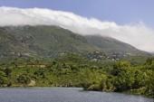 Padula lake near the mountain village Oletta in the Nebbio region, Northern Corsica, France — Stock Photo