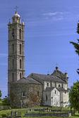 Församlingkyrkan av San Nicolao Paroissiale de San Nicolao, Costa Verde, Korsika, Frankrike, Europa — Stockfoto