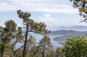 View from the mountain Monte Perone, Elba, Tuscany, Italy, Europe — Stock Photo