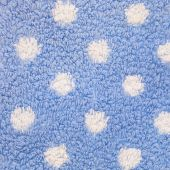 Close Up of Blue Carpet with White Polka Dots — Stock Photo