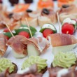 Close up Appetizing Fresh Fish Meat Finger Food — Stockfoto #55142515