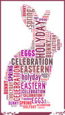 Rabbit in Eastern Holiday Word Cloud Concept — Stock Photo