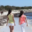 Rear View of Women Walking at the Beach — Stock Photo #65862399