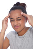 Close up Young Woman Suffering From Migraine — Stock Photo