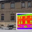 Old House with a thermal imaging — Stockfoto #68670839
