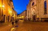 Early morning in Alba, Italy. — Stock Photo