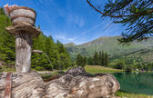 Lake Laux in Piedmont, Italy. — Stock Photo