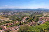 Small village and Roero area in Italy. — Stock Photo
