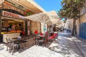 Outdoor restaurant in Muristan area, Jerusalem. — Foto de Stock