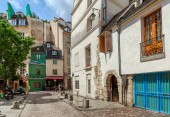 Street view in Paris, France. — Stock Photo