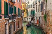 Small canal among old houses in Venice. — Stock Photo