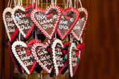 Gingerbread Hearts with I love you — Stock Photo