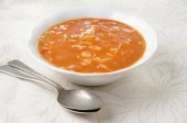 Minestrone soup in a bowl — Stock Photo
