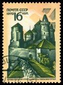 Vintage  postage stamp. Fortress, Kamenets - Podolsky. — Stock Photo