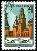 Vintage  postage stamp.  Novgorod Kremlin. — Stock Photo