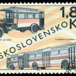 Vintage postage stamp. Old  buses. — Stock Photo #53432535