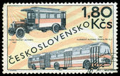 Vintage postage stamp. Old  buses. — Stock Photo
