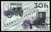 Vintage postage stamp. Old cars. — Stock Photo
