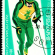 Vintage postage stamp. Olympic games in Calgary. — Stock Photo #57929701