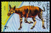 Vintage  postage stamp. Animals Burundi, Okapi. — Stockfoto