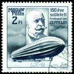 Постер, плакат: Vintage postage stamp Ferdinand Von Zeppelin Airship LZ 2