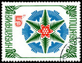 Vintage  postage stamp. New year 1987. — Stock Photo