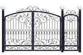 Decorative gate and door. — Stock Photo