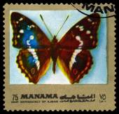 Vintage  postage stamp. Butterfly Apatura Iris. — Stock fotografie