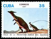 Vintage  postage stamp.   Dinosaur. 2. — Stockfoto